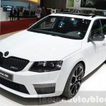 Skoda Octavia RS 4X4 front three quarter at the 2016 Geneva Motor Show Live