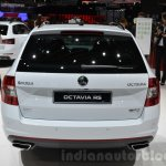 Skoda Octavia RS 4X4 rear at the 2016 Geneva Motor Show Live
