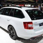 Skoda Octavia RS 4X4 rear three quarter at the 2016 Geneva Motor Show Live