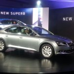 Skoda Superb front three quarter launched