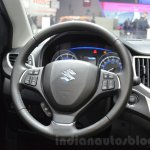 Suzuki Baleno 1.0 Boosterjet steering wheel at 2016 Geneva Motor Show