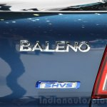 Suzuki Baleno 1.2 SHVS badge at 2016 Geneva Motor Show