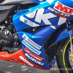 Suzuki Gixxer Cup race bike fairing sponsors at Auto Expo 2016