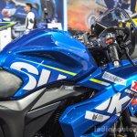Suzuki Gixxer Cup race bike fuel tank at Auto Expo 2016