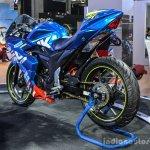 Suzuki Gixxer Cup race bike rear quarter at Auto Expo 2016