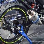 Suzuki Gixxer Cup race bike rear wheel drum brake at Auto Expo 2016