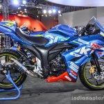 Suzuki Gixxer Cup race bike side at Auto Expo 2016