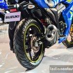 Suzuki Gixxer SF-Fi with rear disc brake rear at Auto Expo 2016