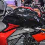 Suzuki Gixxer rear disc brake variant black and red at Auto Expo 2016