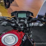 Suzuki Gixxer rear disc brake variant instrument console at Auto Expo 2016