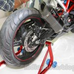 TVS Akula 310 Racing Concept rear tyre at Auto Expo 2016