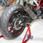 TVS Akula 310 Racing Concept rear tyre at Auto Expo 2016