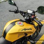 TVS Apache RTR 200 4V fuel tank review
