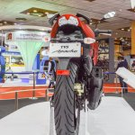 TVS Apache RTR 200 4V rear at Auto Expo 2016