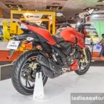 TVS Apache RTR 200 4V rear quarter at Auto Expo 2016