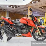 TVS Apache RTR 200 4V side at Auto Expo 2016