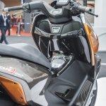 TVS ENTORQ 210 handlebar at Auto Expo 2016