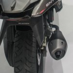 TVS ENTORQ210 Scooter Concept rear tyre exhaust at Auto Expo 2016