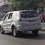 Tata Hexa camouflaged rear quarter spied near ARAI Pune