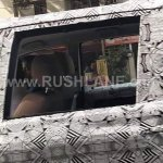 Tata Hexa camouflaged seats spied near ARAI Pune