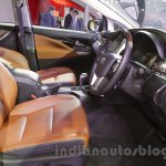 Toyota Innova Crysta 2.8 Z front cabin at the Auto Expo 2016