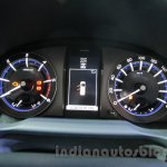 Toyota Innova Crysta 2.8 Z instrument cluster at the Auto Expo 2016