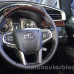 Toyota Innova Crysta 2.8 Z steering wheel at the Auto Expo 2016