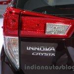 Toyota Innova Crysta 2.8 Z taillamp at the Auto Expo 2016