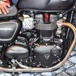 Triumph Bonneville Street Twin Matt Black engine at Auto Expo 2016