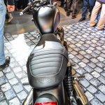 Triumph Bonneville Street Twin Matt Black rear top at Auto Expo 2016