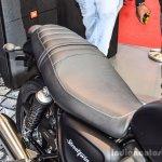 Triumph Bonneville Street Twin Matt Black seat at Auto Expo 2016