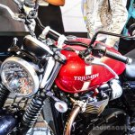 Triumph Bonneville Street Twin Red at Auto Expo 2016