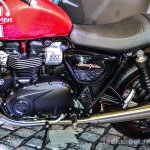 Triumph Bonneville Street Twin Red engine at Auto Expo 2016
