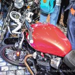 Triumph Bonneville Street Twin Red fuel tank at Auto Expo 2016