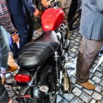 Triumph Bonneville Street Twin Red rear at Auto Expo 2016