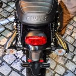 Triumph Bonneville Street Twin Red tail lamp at Auto Expo 2016