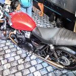 Triumph Bonneville Street Twin Red top at Auto Expo 2016