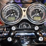 Triumph Bonneville T120 Black instrument cluster at Auto Expo 2016