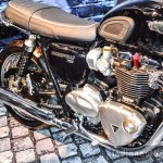 Triumph Bonneville T120 Black parallel-twin engine at Auto Expo 2016