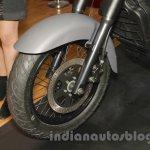 UM Renegade Commando front disc brake at Auto Expo 2016