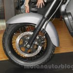 UM Renegade Commando front wheel at Auto Expo 2016