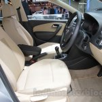 VW Ameo front seats at Auto Expo 2016