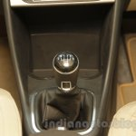 VW Ameo gear lever detail at Auto Expo 2016