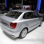 VW Ameo rear three quarter right at Auto Expo 2016