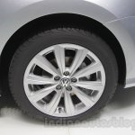 VW Ameo wheel detail at Auto Expo 2016