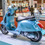 Vespa GTS 300 ABS rear quarter at Auto Expo 2016