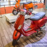 Vespa SXL 150 red front quarter at Auto Expo 2016