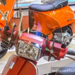 Vespa SXL 150 red headlamp at Auto Expo 2016