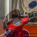 Vespa SXL 150 red instrument console at Auto Expo 2016