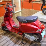 Vespa SXL 150 red rear quarter at Auto Expo 2016